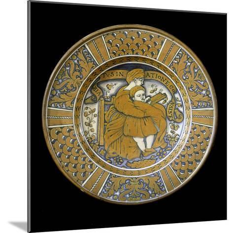 Plate, Ceramic, Deruta Manufacture, Umbria, Italy--Mounted Giclee Print