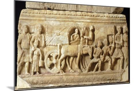 Alabaster Urn Depicting the Journey to the Underworld--Mounted Giclee Print