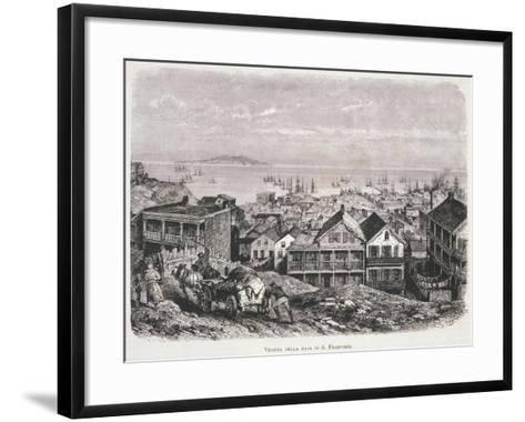 View of San Francisco Bay from Illustrazione Italiana Magazine, 10th August 1879--Framed Art Print
