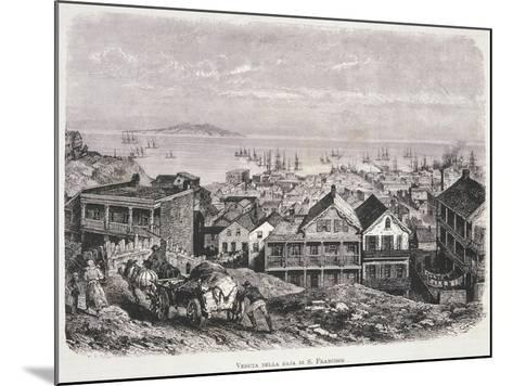 View of San Francisco Bay from Illustrazione Italiana Magazine, 10th August 1879--Mounted Giclee Print