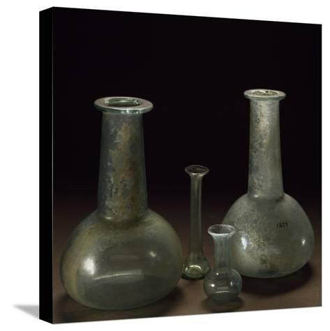 Long Neck Glass Jars--Stretched Canvas Print