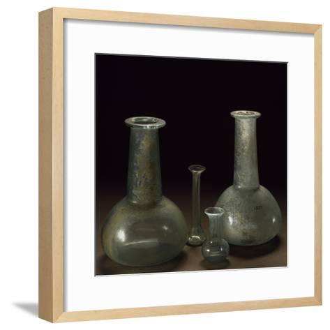 Long Neck Glass Jars--Framed Art Print