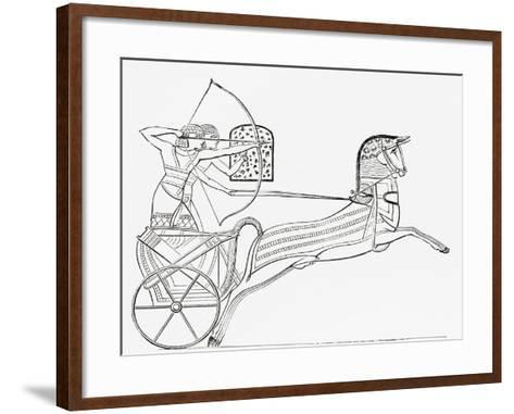 Egyptian War Chariot, from the Imperial Bible Dictionary, Published 1889--Framed Art Print
