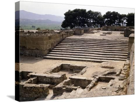 Staircase of Great Propylaeum of Phaistos Palace, Crete, Minoan Civilization, 16th-15th Century BC--Stretched Canvas Print