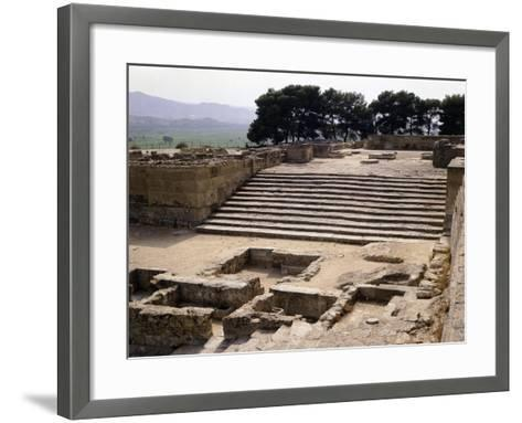 Staircase of Great Propylaeum of Phaistos Palace, Crete, Minoan Civilization, 16th-15th Century BC--Framed Art Print