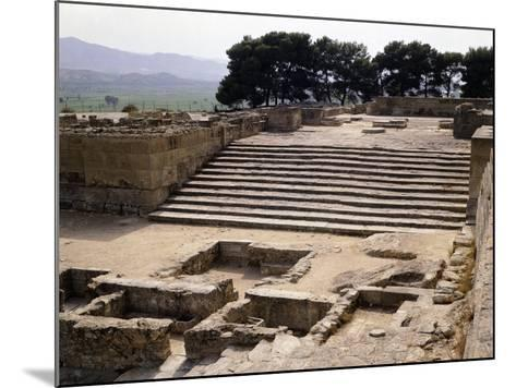 Staircase of Great Propylaeum of Phaistos Palace, Crete, Minoan Civilization, 16th-15th Century BC--Mounted Giclee Print