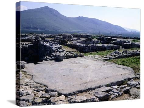 The Palace of Tiryns, Greece, Mycenaean Civilization, 8th Century BC--Stretched Canvas Print