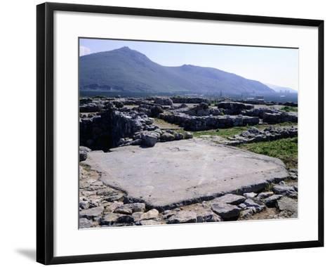 The Palace of Tiryns, Greece, Mycenaean Civilization, 8th Century BC--Framed Art Print