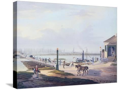 View of Strasbourg, 1820, France Watercolour--Stretched Canvas Print