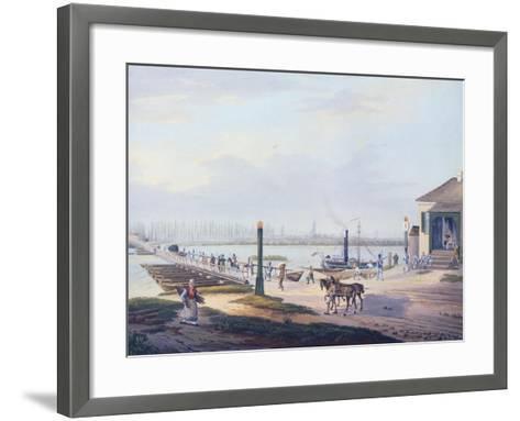 View of Strasbourg, 1820, France Watercolour--Framed Art Print