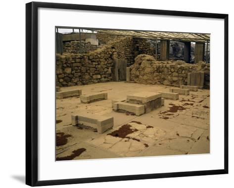 Greece, Crete, Royal Apartments of Northern Wing at Phaistos Palace, 16th-15th Century BC--Framed Art Print