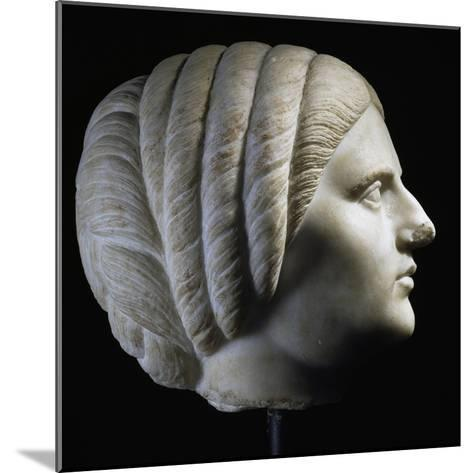 Marble Head of Woman, Profile View, Uncovered in Pergamon, Turkey. Roman Civilization, 193-211 Ad--Mounted Giclee Print