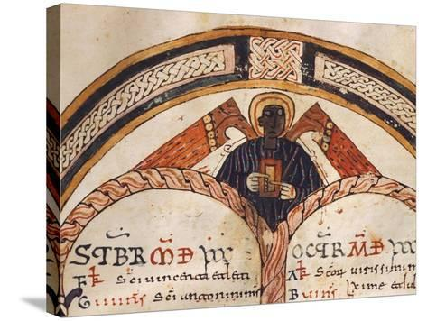 The Evangelist Matthew, Mozarabic Miniature from Liber Ordinum, 1052, Spain--Stretched Canvas Print