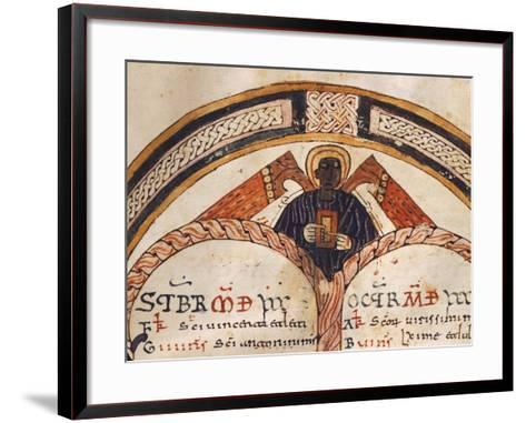 The Evangelist Matthew, Mozarabic Miniature from Liber Ordinum, 1052, Spain--Framed Art Print