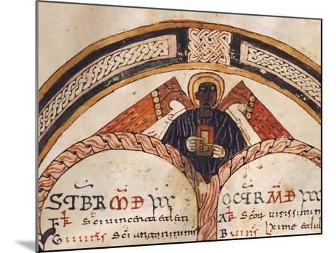 The Evangelist Matthew, Mozarabic Miniature from Liber Ordinum, 1052, Spain--Mounted Giclee Print