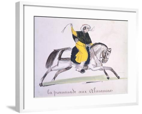 Horseman Smoking a Cigar, 1840--Framed Art Print