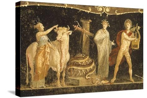 Detail of Fresco Depicting Sacrificial Scene, House of Vettii, Pompeii--Stretched Canvas Print