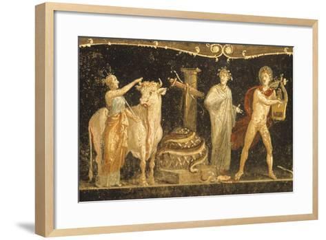 Detail of Fresco Depicting Sacrificial Scene, House of Vettii, Pompeii--Framed Art Print