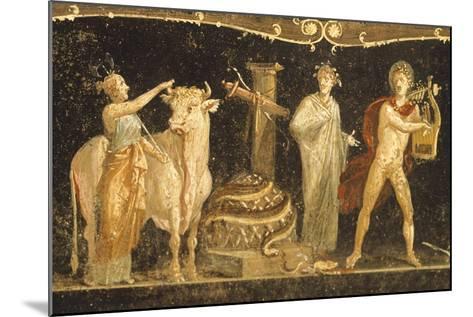 Detail of Fresco Depicting Sacrificial Scene, House of Vettii, Pompeii--Mounted Giclee Print
