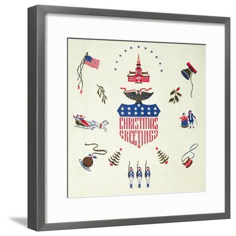 Christmas Greeting, Christmas Card--Framed Art Print