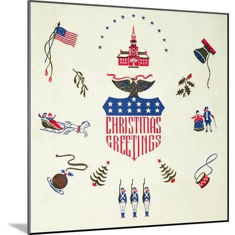 Christmas Greeting, Christmas Card--Mounted Giclee Print