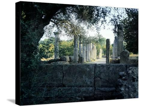The Gymnasium of Olympia, Greece. Greek Civilization, 3rd Century BC--Stretched Canvas Print