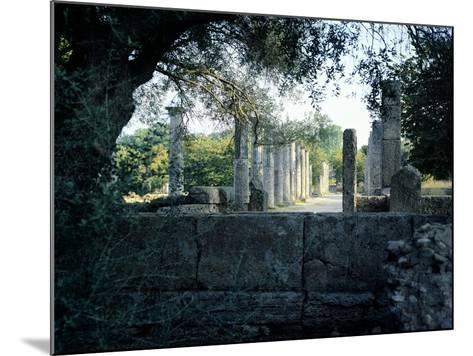 The Gymnasium of Olympia, Greece. Greek Civilization, 3rd Century BC--Mounted Giclee Print