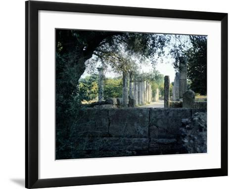 The Gymnasium of Olympia, Greece. Greek Civilization, 3rd Century BC--Framed Art Print