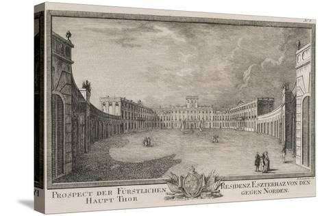 Esterhazy Palace in Vienna by F Landerer, 1784, Austria 18th Century Engraving--Stretched Canvas Print