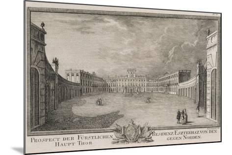 Esterhazy Palace in Vienna by F Landerer, 1784, Austria 18th Century Engraving--Mounted Giclee Print