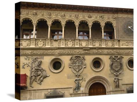 Spain, Aragon, Tarazona Town Hall--Stretched Canvas Print
