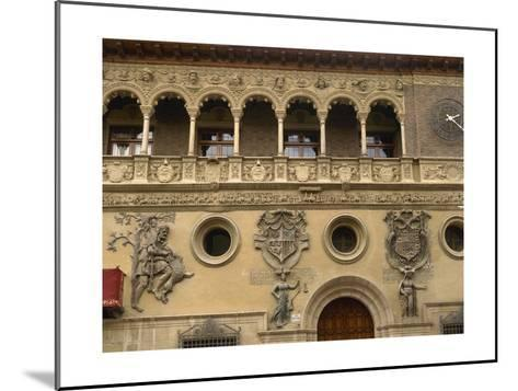 Spain, Aragon, Tarazona Town Hall--Mounted Giclee Print