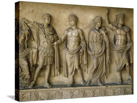 Apotheosis of Augustus, Fragment of Bas-Relief AD--Stretched Canvas Print