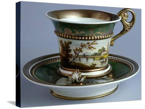 Cup and Saucer, Early Tablewares Series, Ceramic--Stretched Canvas Print