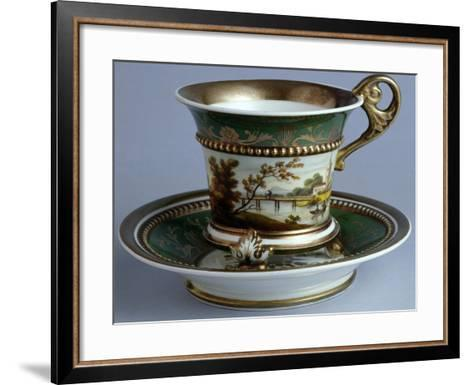 Cup and Saucer, Early Tablewares Series, Ceramic--Framed Art Print