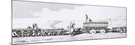 The Transportation of a Monolith from Khorsabad, Iraq, 1867--Mounted Giclee Print