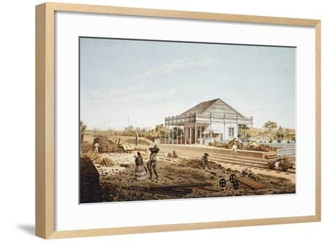 Mexico, La Soledad Rail Station in Veracruz, 1878--Framed Art Print