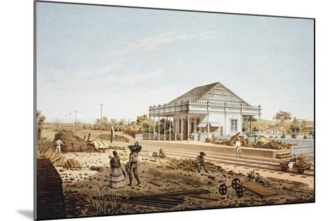 Mexico, La Soledad Rail Station in Veracruz, 1878--Mounted Giclee Print