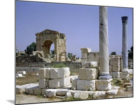 Tyre, Lebanon, Tuinds of Antique Town with Triumphal Arch--Mounted Giclee Print