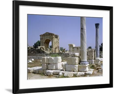 Tyre, Lebanon, Tuinds of Antique Town with Triumphal Arch--Framed Art Print