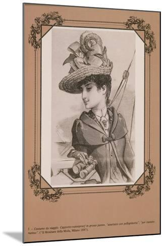 """Travel Costume Heavy Cloth Waterproof Coat to Travel by Sea, from """"Il Monitore Della Moda"""", 1887--Mounted Giclee Print"""