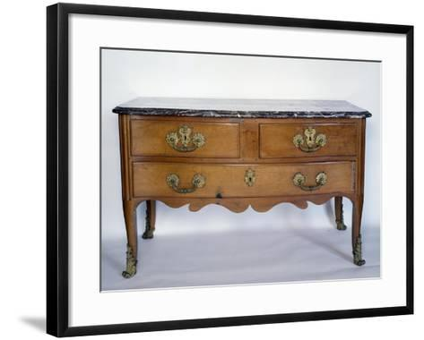 Louis XIII-XIV Style Commode with Marble Top, France--Framed Art Print