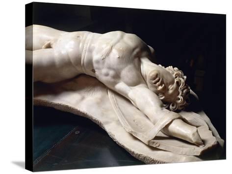 Marble Statue of Dead Gaul, Roman Copy of Pergamon School Original--Stretched Canvas Print