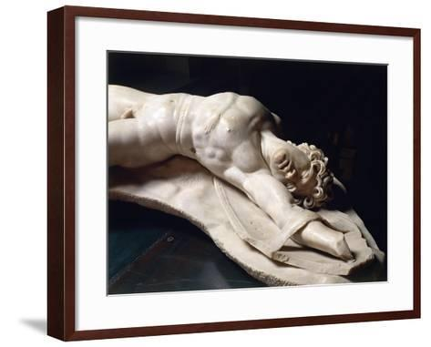 Marble Statue of Dead Gaul, Roman Copy of Pergamon School Original--Framed Art Print