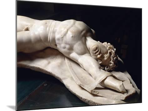 Marble Statue of Dead Gaul, Roman Copy of Pergamon School Original--Mounted Giclee Print