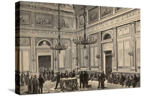 Spain, Madrid, Conference Hall of the Chamber of Deputies, 19th Century--Stretched Canvas Print
