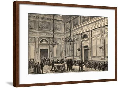Spain, Madrid, Conference Hall of the Chamber of Deputies, 19th Century--Framed Art Print