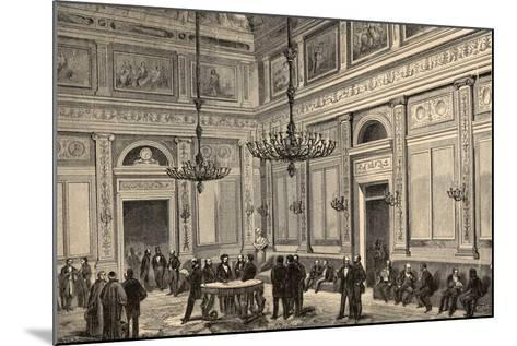Spain, Madrid, Conference Hall of the Chamber of Deputies, 19th Century--Mounted Giclee Print