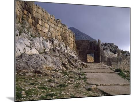 Main Entrance to Acropolis of Mycenae and Lions' Gate, Greece--Mounted Giclee Print