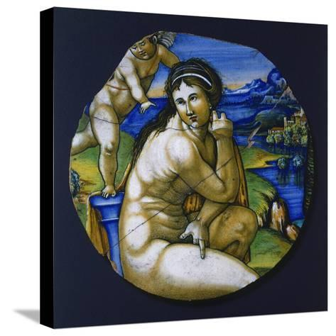 Fragment of Plate with Figure of Venus, 1530--Stretched Canvas Print